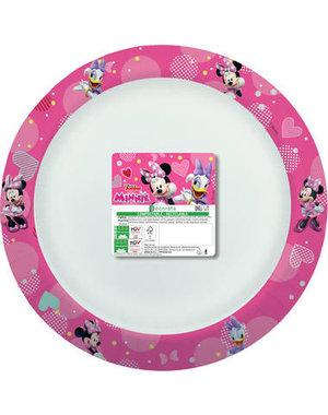 Tafelservies Bordjes Minnie Mouse Composteerbaar - 8stk/24cm