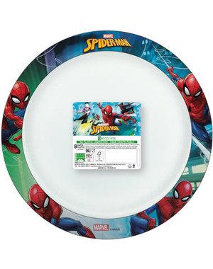 Tafelservies Bordjes SpidermanComposteerbaar - 8stk/24cm