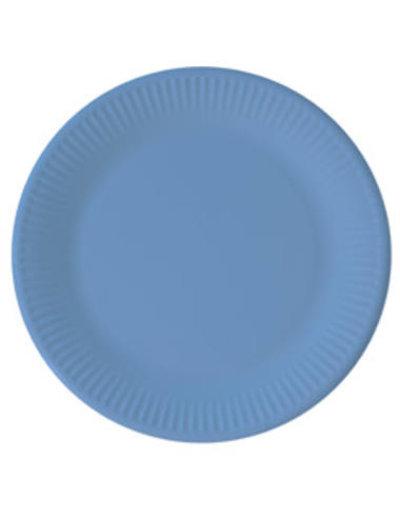 Tafelservies Bordjes Baby Blauw Composteerbaar - 8stk/23cm