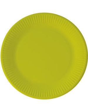 Tafelservies Bordjes Groen Composteerbaar - 8stk/23cm