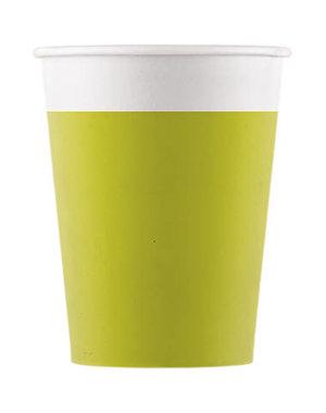 Tafelservies Bekertjes Groen Composteerbaar - 8stk