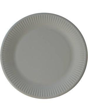 Tafelservies Bordjes Grijs Composteerbaar - 8stk/23cm