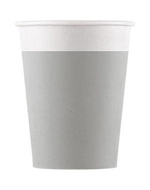 Tafelservies Bekertjes Grijs Composteerbaar - 8stk