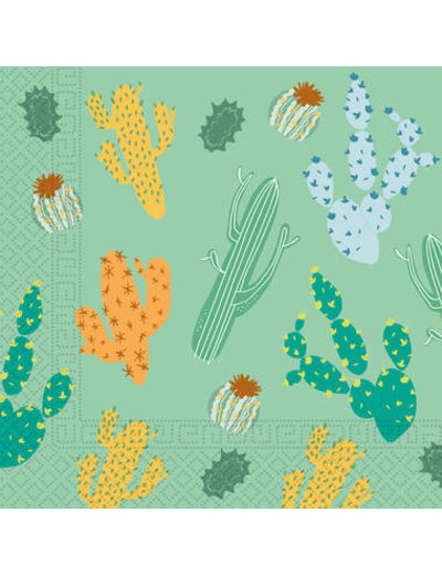 Tafelservies Servetten Cactus Composteerbaar - 20stk