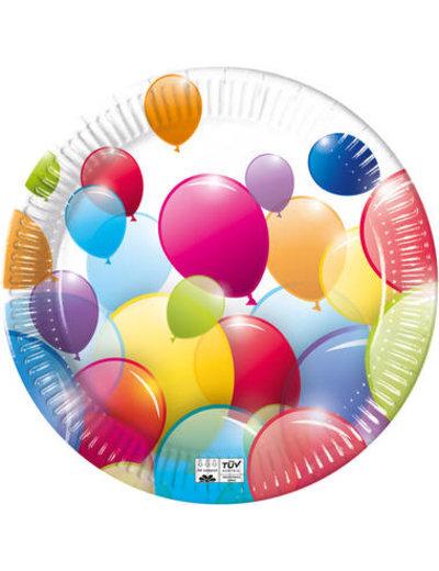 Tafelservies Bordjes Ballonnen Composteerbaar - 8stk/23cm