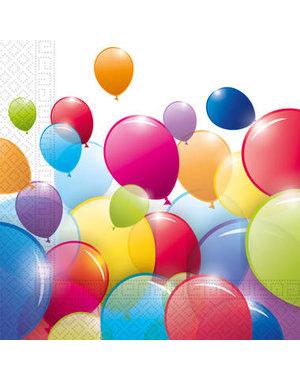 Tafelservies Servetten Ballonnen  Composteerbaar - 20stk