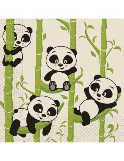 Tafelservies Servetten Panda  Composteerbaar - 20stk