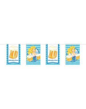 versiering Oktoberfest Bierfest Vlaggenlijn Bierpullen 10mtr