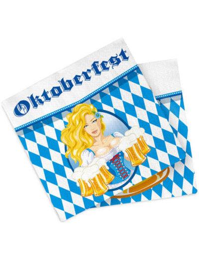 Accessoires Servetten Oktoberfest - 23cm