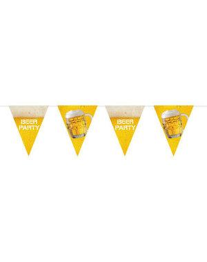 versiering Vlaggenlijn Beer Party XL Oktoberfest  - 6mtr
