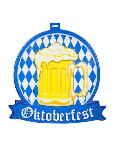 versiering Deurbord 3D Bierpul Oktoberfest