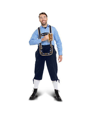 Kostuum Lederhose Blauw Oktoberfest