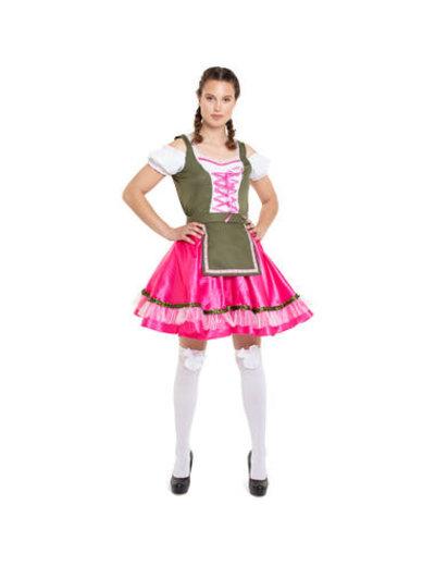 Kostuum Oktoberfest Dirndl Klassiek Roze - 36 t/m 44