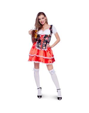 Kostuum Oktoberfest Dirndl Bloem - 36 t/m 42