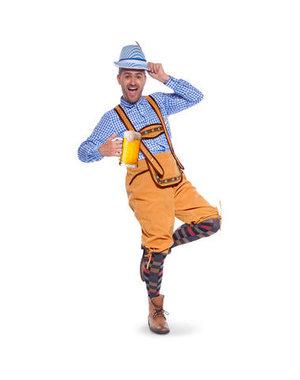 Kostuum Lederhose Beige Oktoberfest  - 48 t/m 54