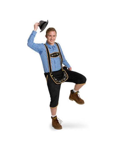 Kostuum Lederhose Zwart Oktoberfest  - 48 t/m 54