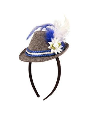 accessoires Tiara Mini Trilby Hoedje Oktoberfest - Blauw