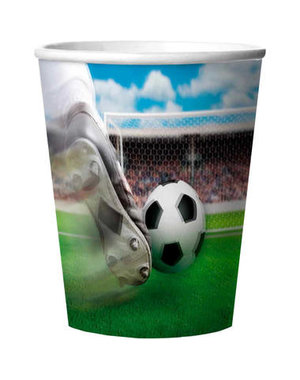servies Bekertjes 3D Voetbal - 4stk