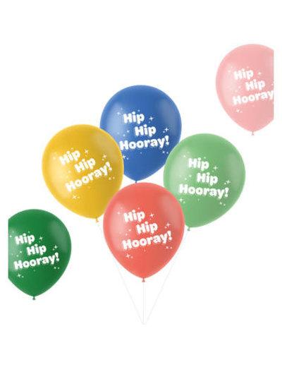 Latexballonnen Retro Ballonnen Hip Hip Hooray - 6stk