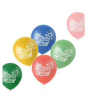Latexballonnen Retro Ballonnen You Are A Star - 6stk