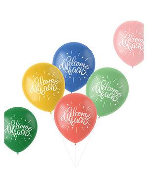 Latexballonnen Retro Ballonnen Welcome Back - 6stk