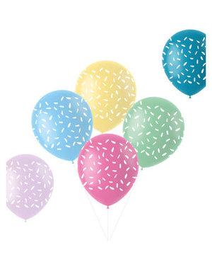 Latexballonnen Retro Ballonnen Confetti Sprinkels - 6stk