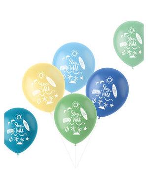 Latexballonnen Retro Ballonnen Stay Wild Surf - 6stk