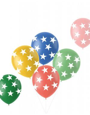 Latexballonnen Retro Ballonnen Sterren - 6stk