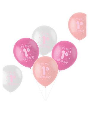 Latexballonnen Ballonnen  It's My First Birthday Girl - 6stk