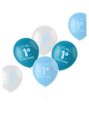 Latexballonnen Ballonnen  It's My First Birthday Boy - 6stk
