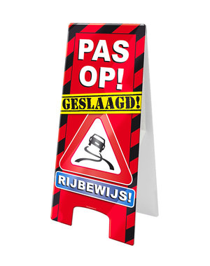 Versiering Warning Sign - Rijbewijs