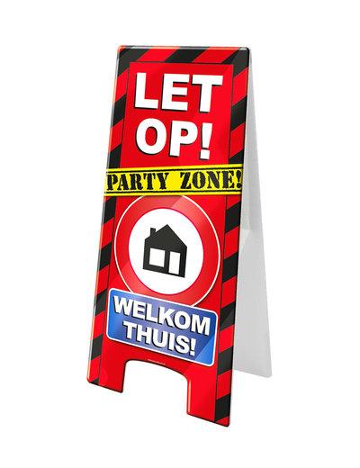 Versiering Warning Sign - Welkom Thuis