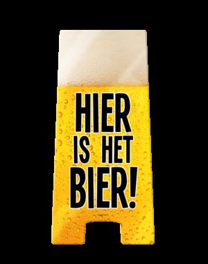 Versiering Warning Sign - Hier is het Bier