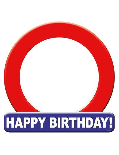Versiering Huldeschild Happy Birthday