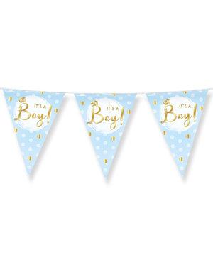Versiering Vlaggenlijn It's a Boy Dots