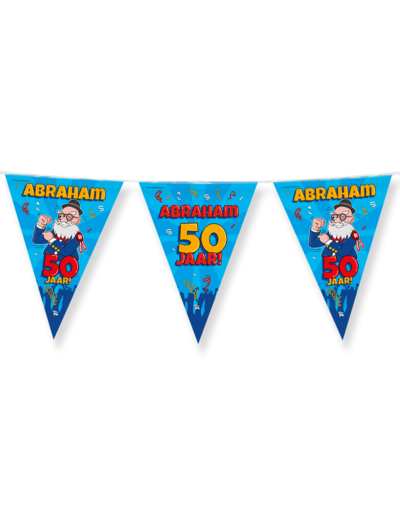 Versiering Vlaggenlijn Abraham 50 Jaar