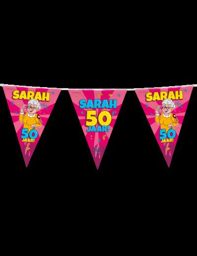 Versiering Vlaggenlijn Sarah 50 Jaar