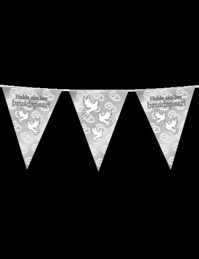 Versiering Vlaggenlijn Hulde aan het Bruidspaar