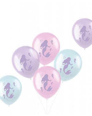 Latexballonnen Pastel Ballonnen Zeemeermin - 6stk