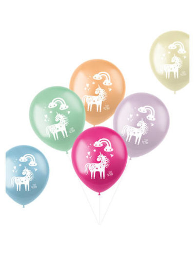 Latexballonnen Ballonnen Rainbows & Unicorns - 6stk