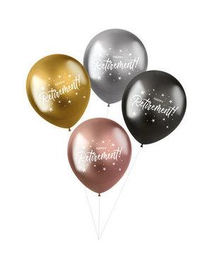Latexballonnen Shimmer Ballonnen Happy Retirement- 4stk