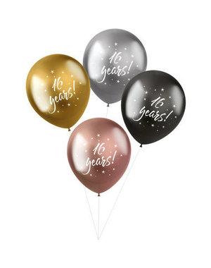 Latexballonnen Shimmer Ballonnen 16 Years - 4stk