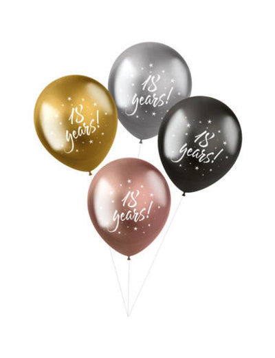 Latexballonnen Shimmer Ballonnen 18 Years - 4stk