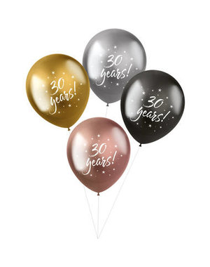 Latexballonnen Shimmer Ballonnen 30 Years - 4stk