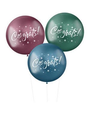 Ballonnen XL Stellar Congrats - 3stk