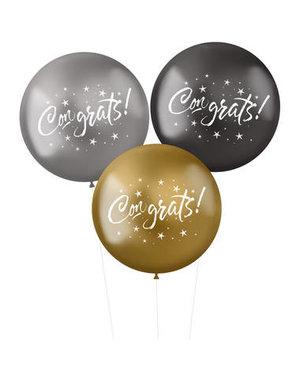 Ballonnen XL Electrum Congrats - 3stk