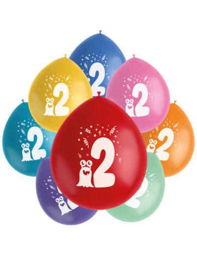Ballonnen Color Pop 2  Jaar - 8stk