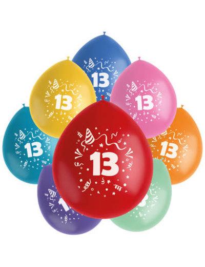 Ballonnen Color Pop 13 Jaar - 8stk