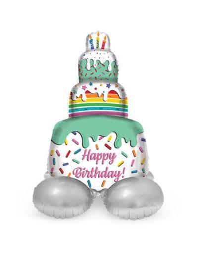 Foliebalon Folieballon Happy Birthday  Cake - 72cm