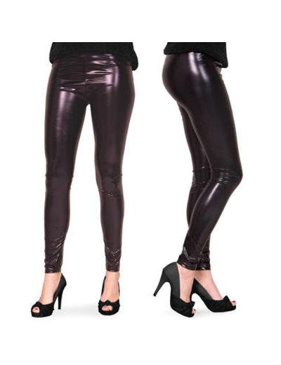 Kostuum Legging Metallic Zwart - Dames